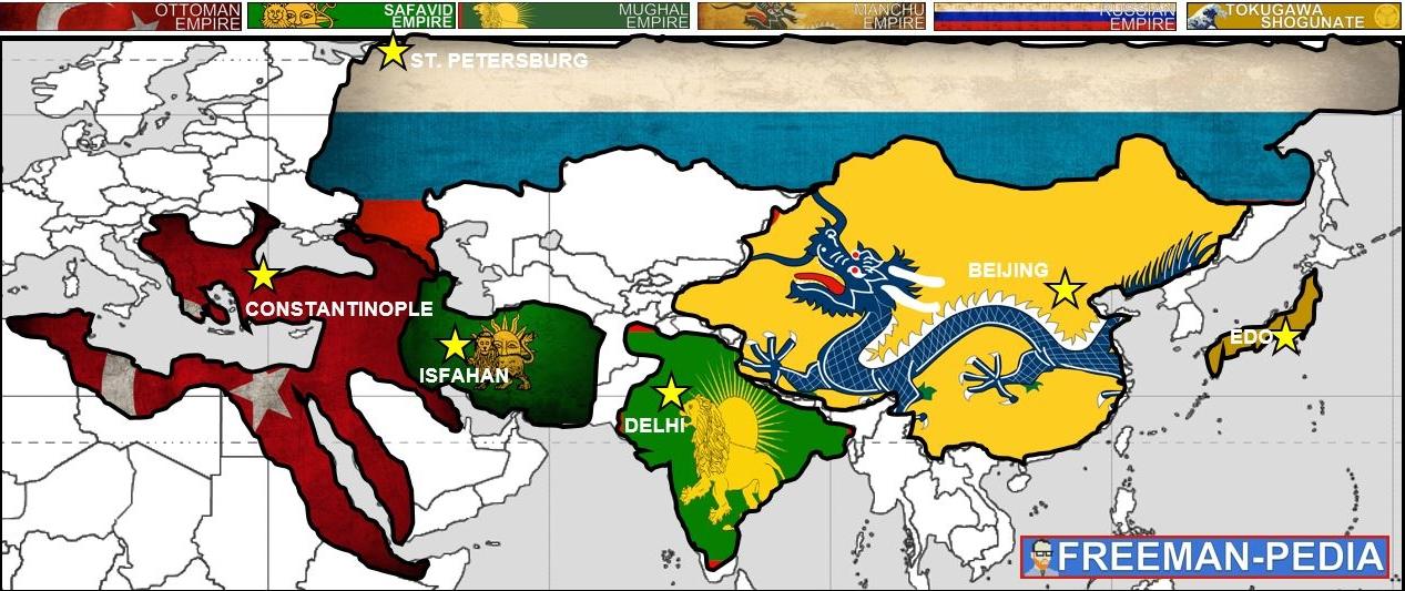 Ottoman Vs Safavid Vs Mughal
