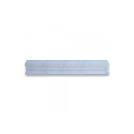 carrara white 2x12 chair rail bullnose trim molding honed art tile