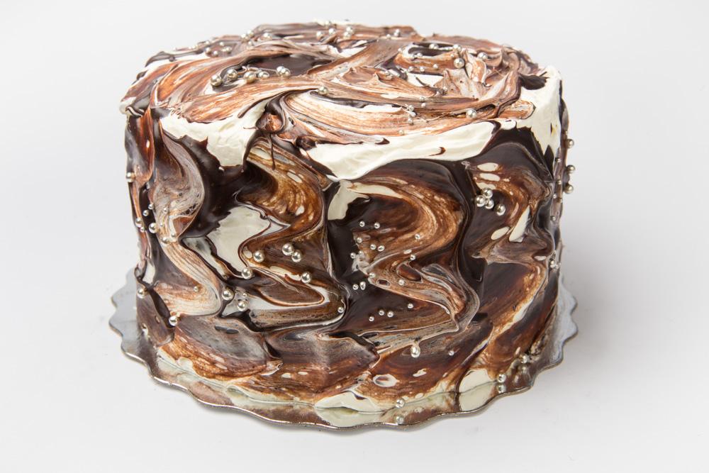 Peanut Chocolate Mousse Cake