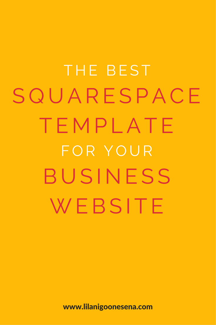 The Best Squarespace Template For Your Business Website