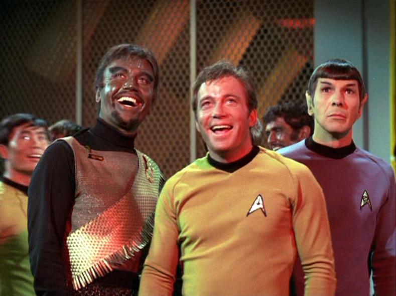 Spock is a bit alarmed.