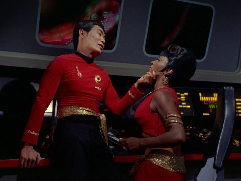 Sulu wants Uhura for something.