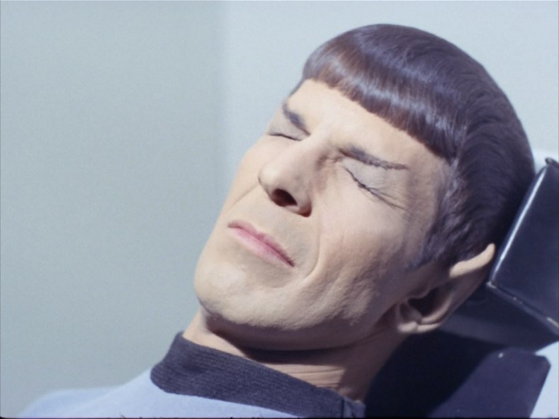 Spock can't see.