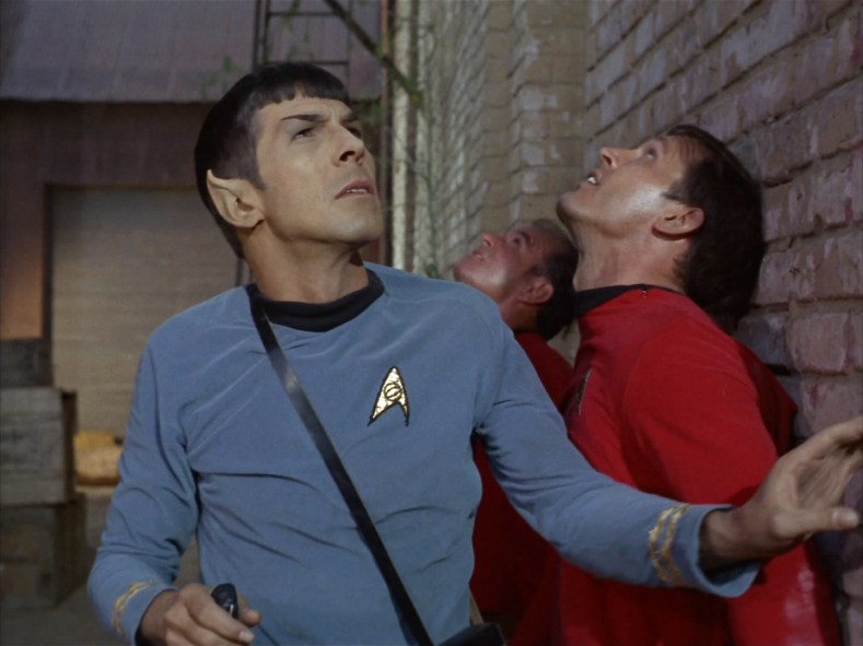 Spock is worried.