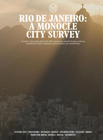 Monocle Magazine Cover: Rio de Janeiro - A Monocle City Survey photographed by Jacob Langvad Nilsson