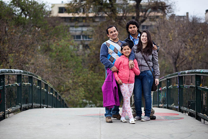 Middle class family in Santiago de Chile
