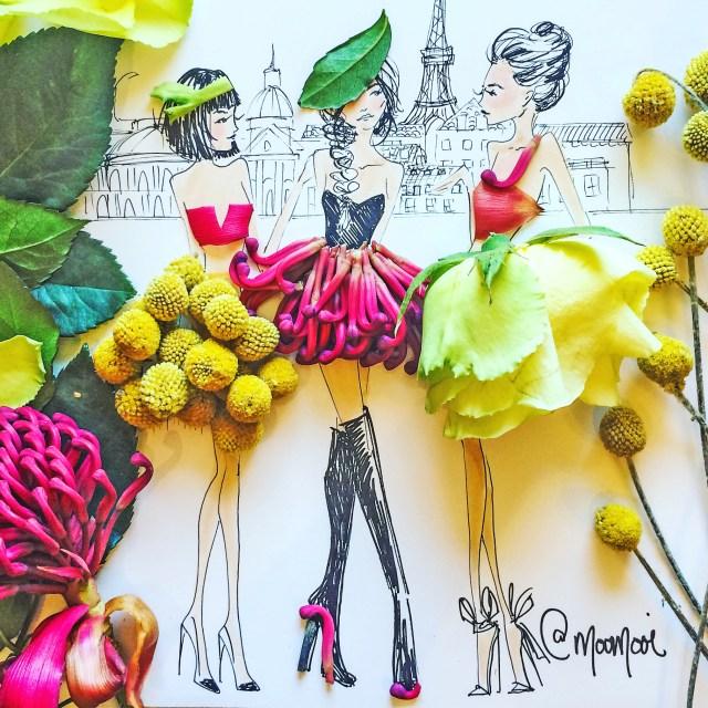 motivasinews.com - Ilustrasi Fashion Unik Dari Sayur dan Buah-Buahan Oleh Meredith Wing