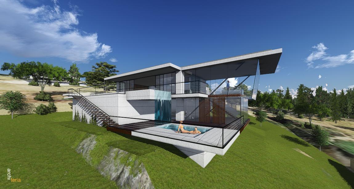 Modern Concrete House Design In Melbourne