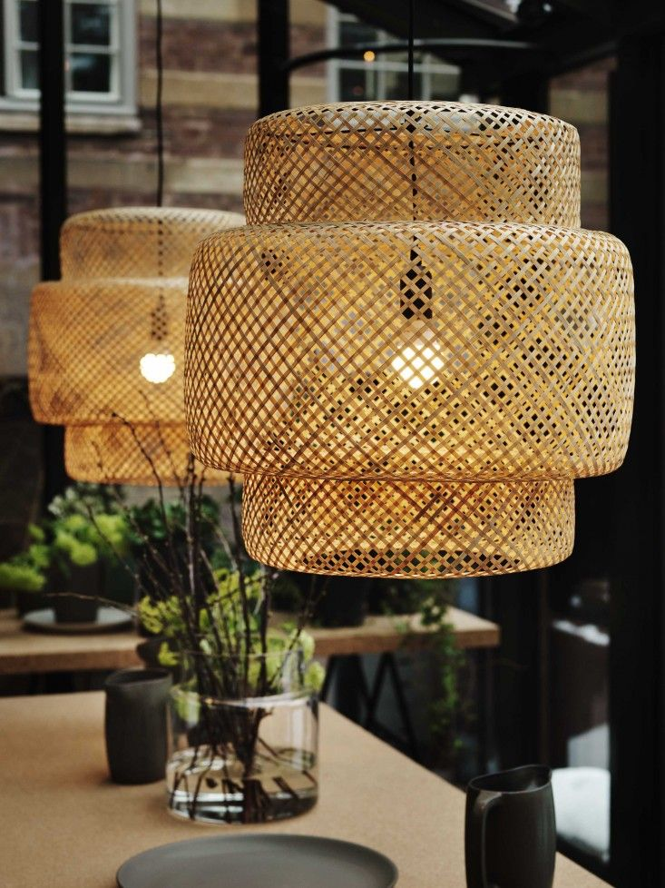 Elegant  casual  timeless    Why wicker furniture isn t for sissies     Remodelista introduced readers to these incredible IKEA wicker lamp shades
