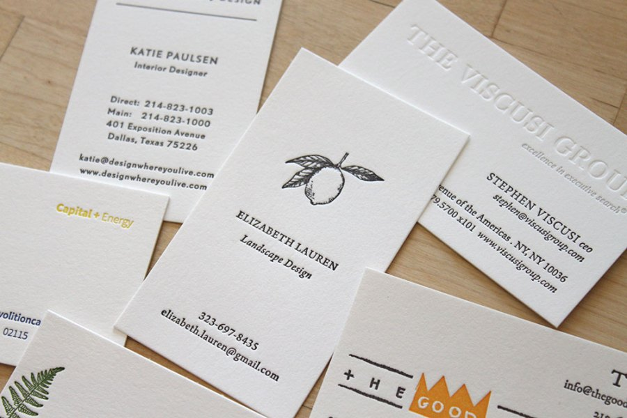 Business Cards     Letterpress Wedding Invitations   Moontree Letterpress Letterpress Business Cards