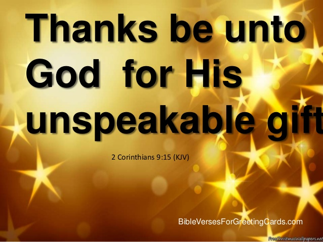 2 Corinthians 915 Jesus The Indescribable Gift Tell