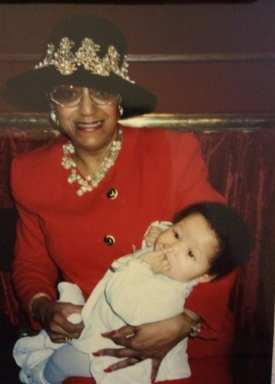 Dr. Weptanomah Carter with her granddaughter, Lilybelle