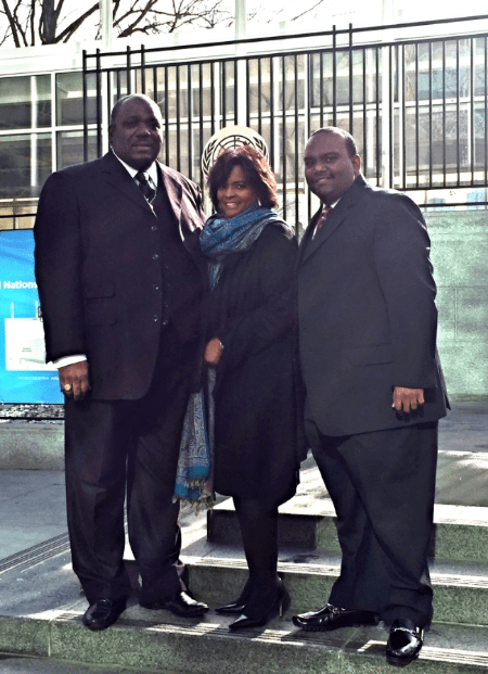 Dr. Harold Carter w/ his wife Rev. Monique Carter and their son Rev. Daniel Carter