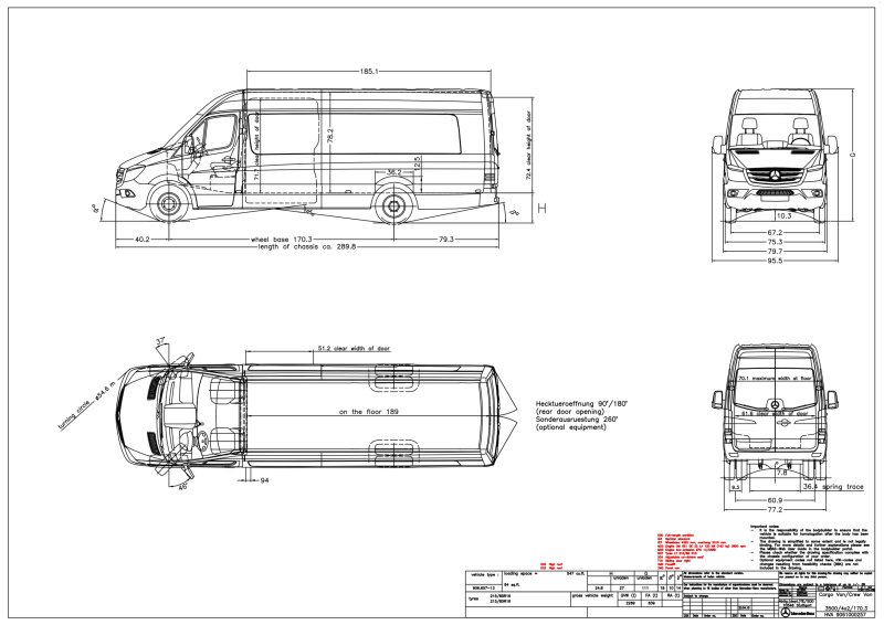 mercedes sprinter cargo van interior dimensions