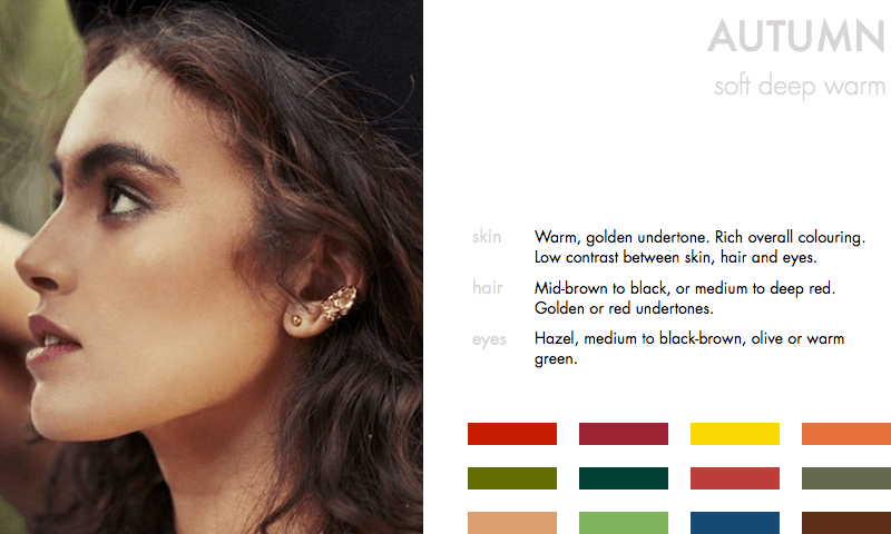 Colours for the Autumn Type