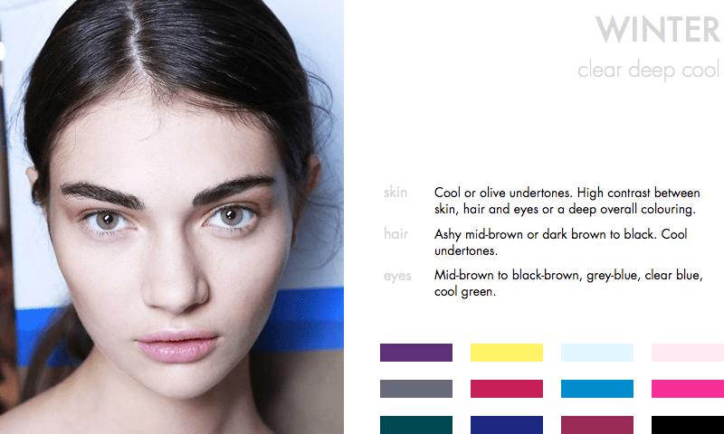 Colours for the Winter Type