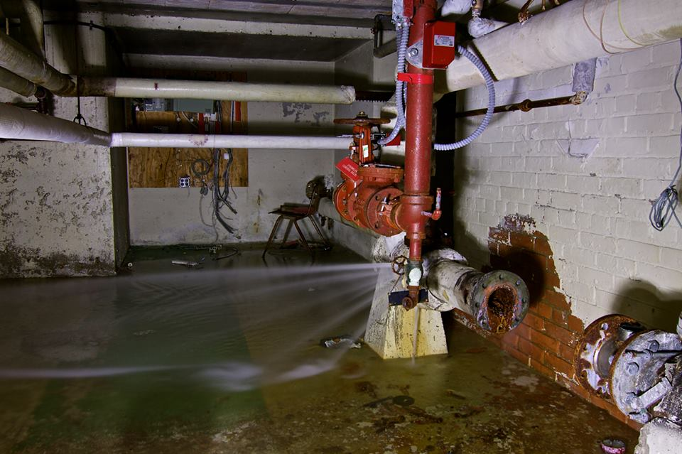 Water Flooding a Detroit Basement, 9 days after a report was filed, and still no results. Photo: Images by DSomms