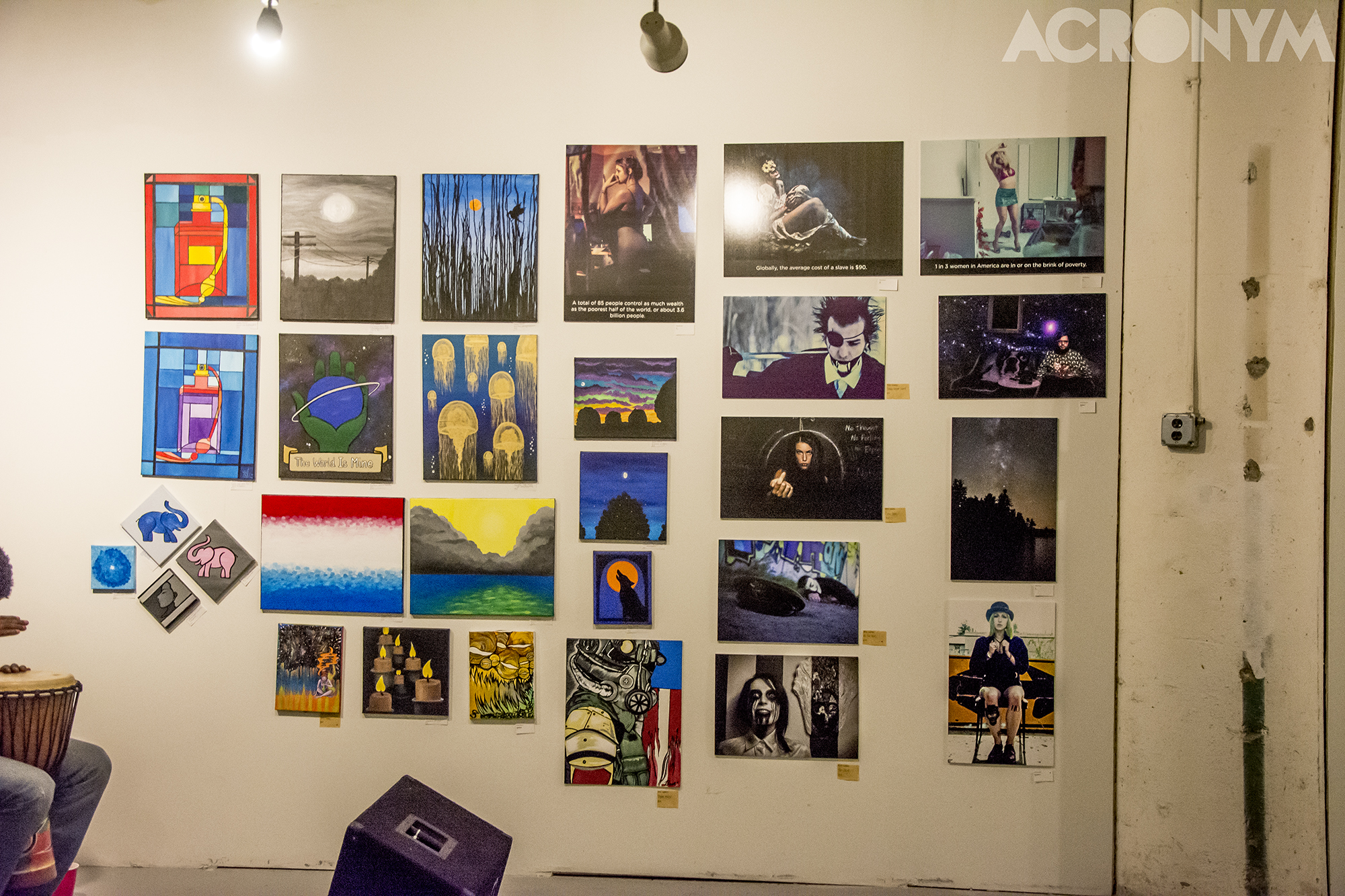 A collection of curated works from the multi-talented artists at the Mixed Bag.  Photo: ACRONYM