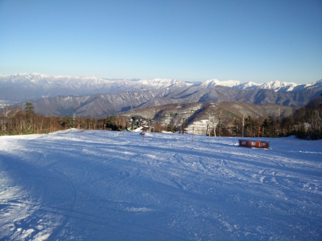 The view from the top of Kagura on December 7th
