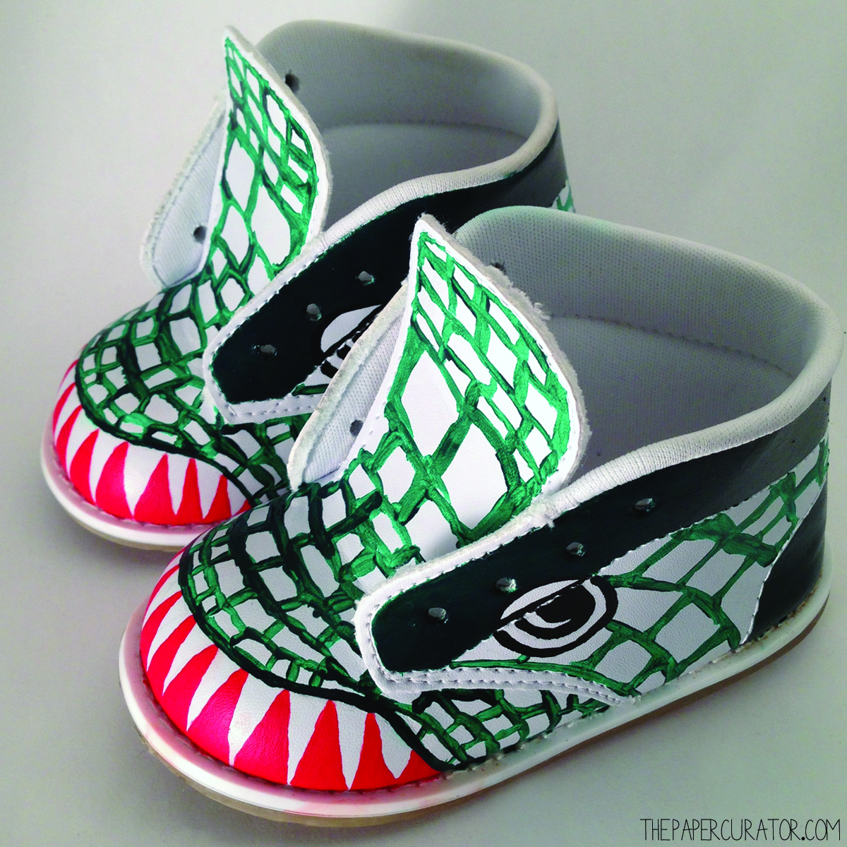 DIY CUSTOM PAINTED DINOSAUR SHOES The Paper Curator