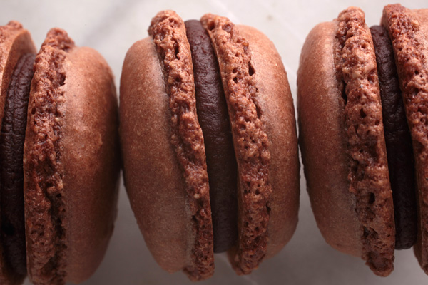 Image result for images of french macarons in chocolate