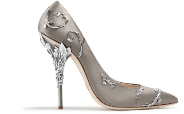 Eden Pumps in Taupe and silver