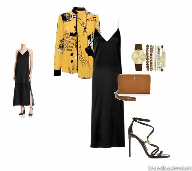 Dress: Rag & Bone | Jacket: Victoria Beckham | Heels: Tom Ford | Wristlet: Tory Burch | Watch/Bracelet set: Jessica Carlyle