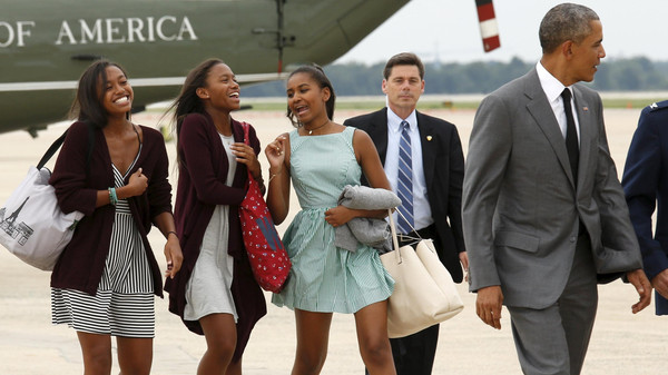 We didn't grow up hanging out with friends AND the Secret Service. Kudos to the Obama kids for handling 8 years gracefully