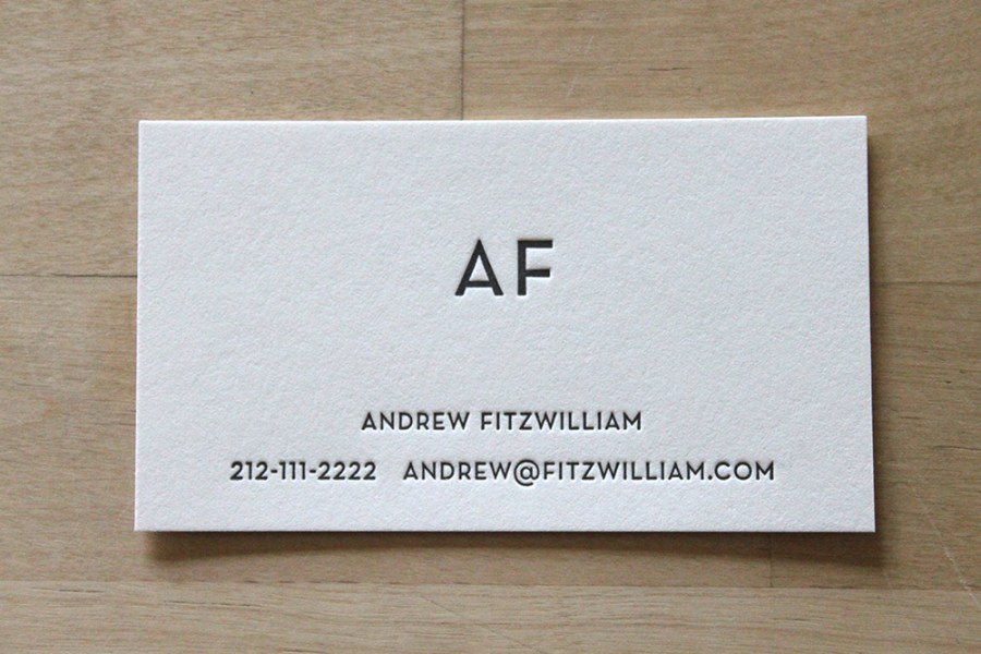 Modern Monogram   Letterpress Business Cards     Brooklyn Social Cards Modern Monogram   Letterpress Business Cards