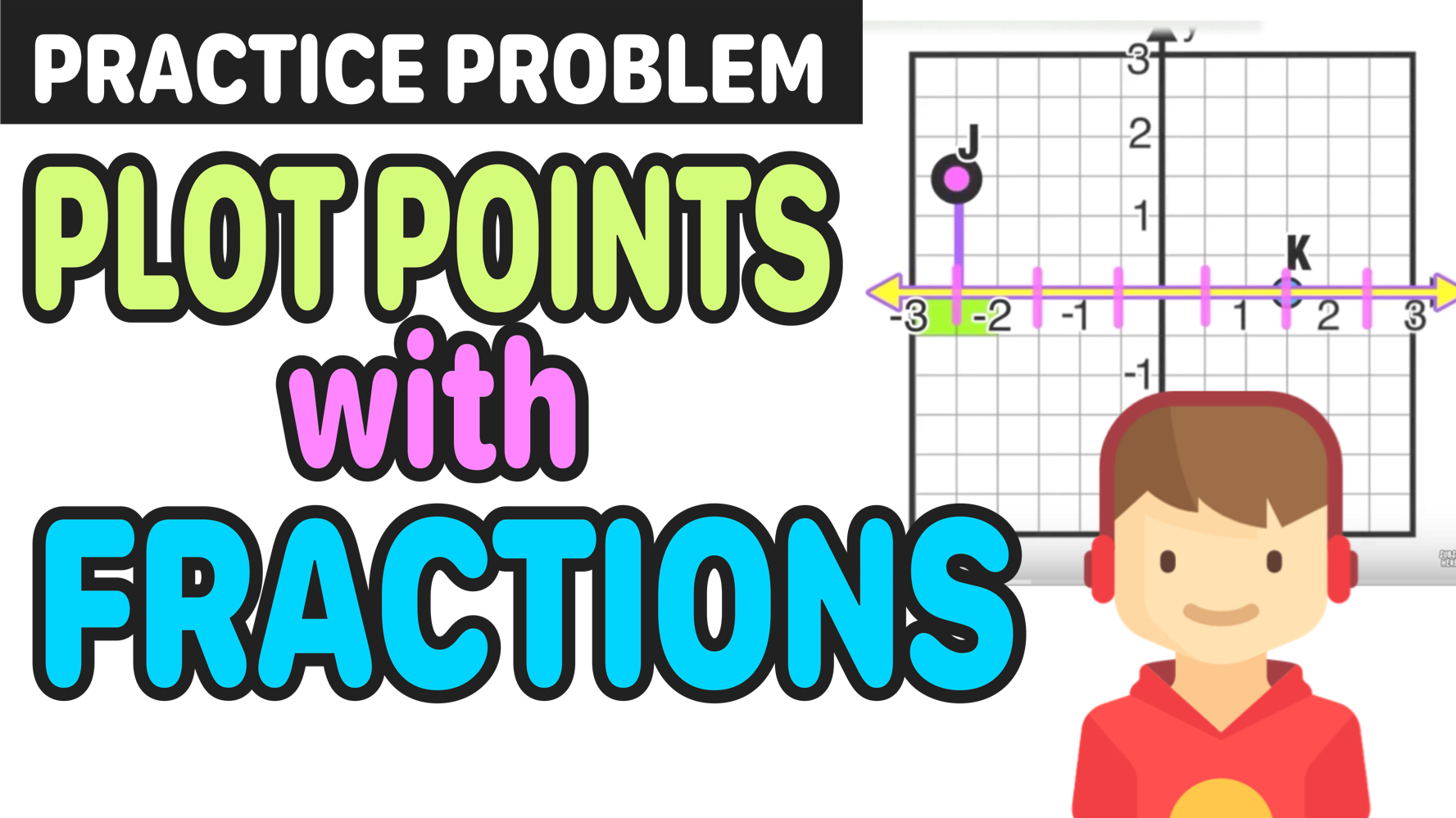 Teaching Kids How To Plot Points With Fractions