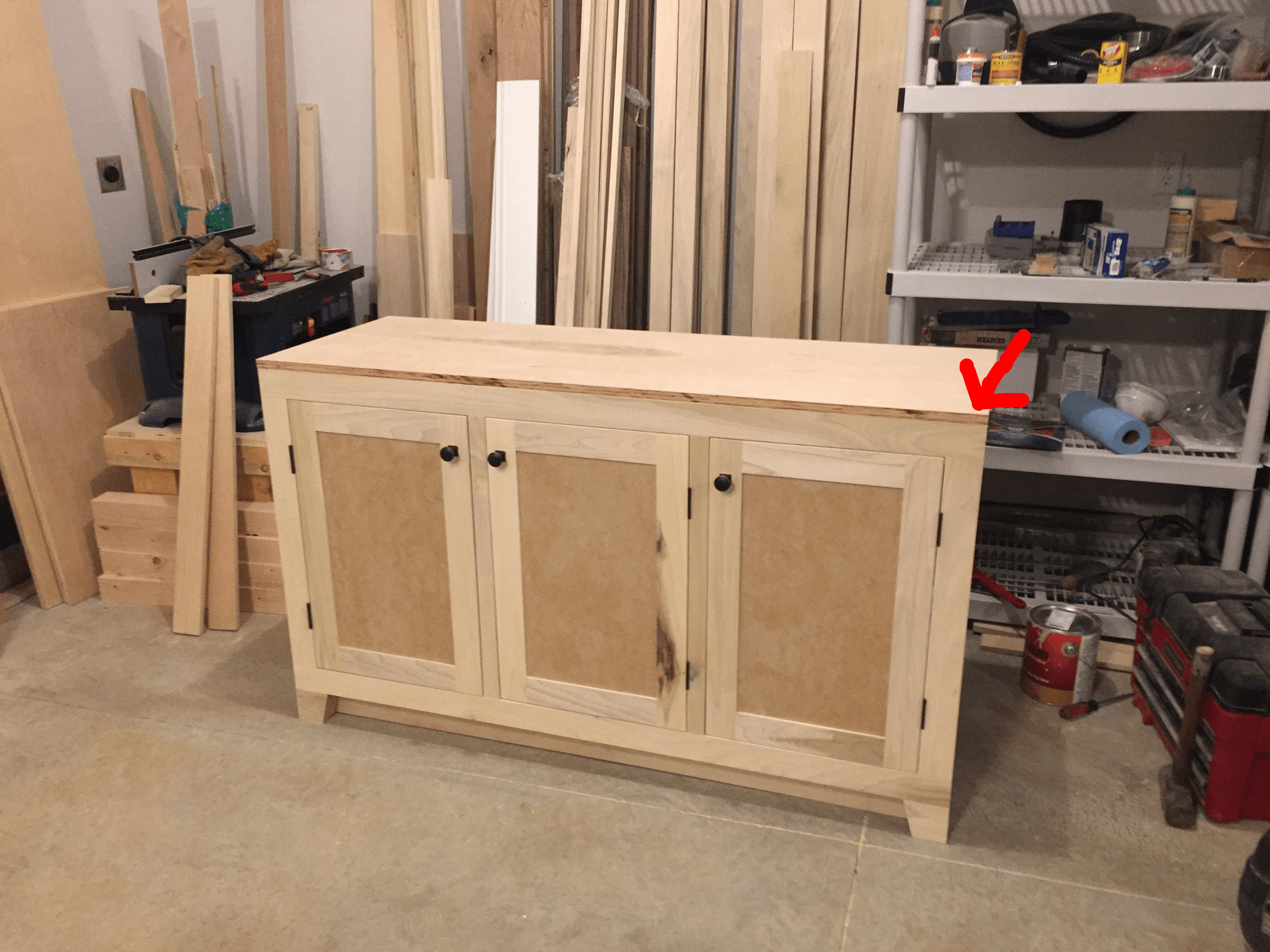 How to Build a Built in Part 1 of 3   The Cabinets     Philip Miller     I have attached the top to the cabinet and it is now ready for a 1in