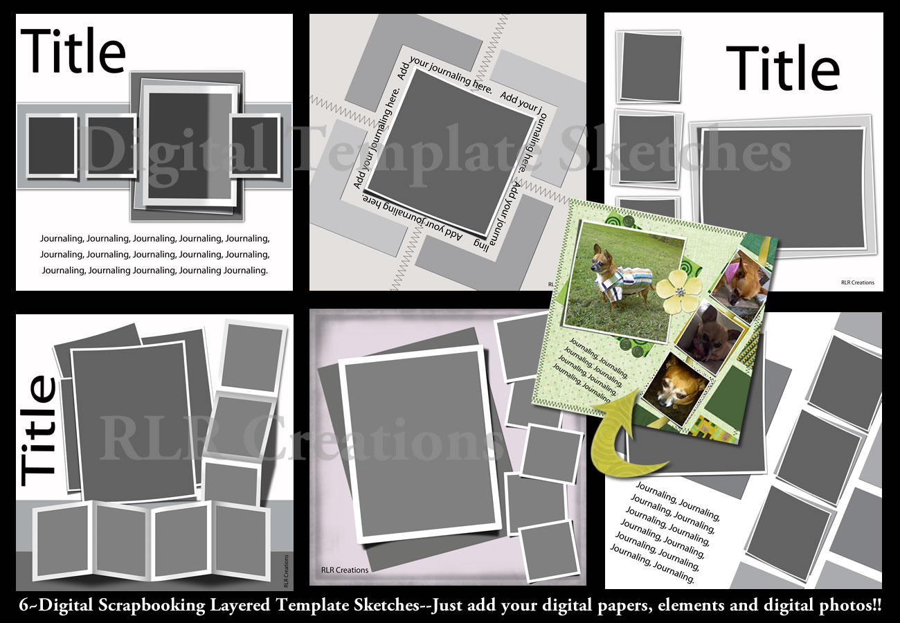LIFTED LAYERS Digital Scrapbooking PSD Layered TemplateS