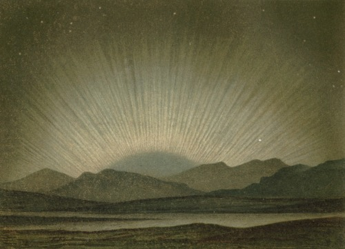 Aurora Borealis, Meyers Konv-Lexicon (Lithographic prints) 1870.