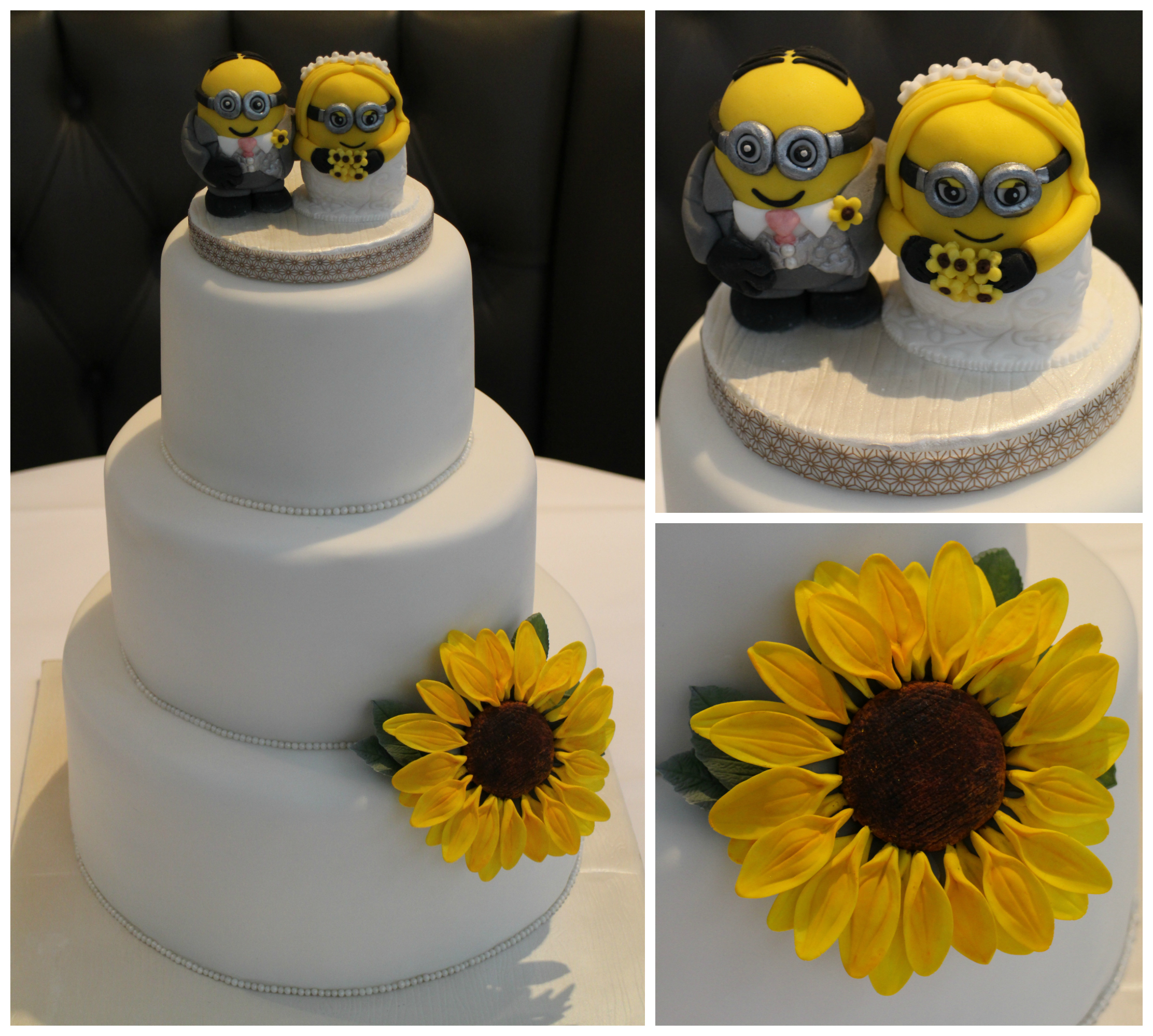 Minion Sunflower Wedding Cake     Serendipity Bakes Congratulations  Mr and Mrs Bourne  I hope you had a truly amazing and  wonderfully special day