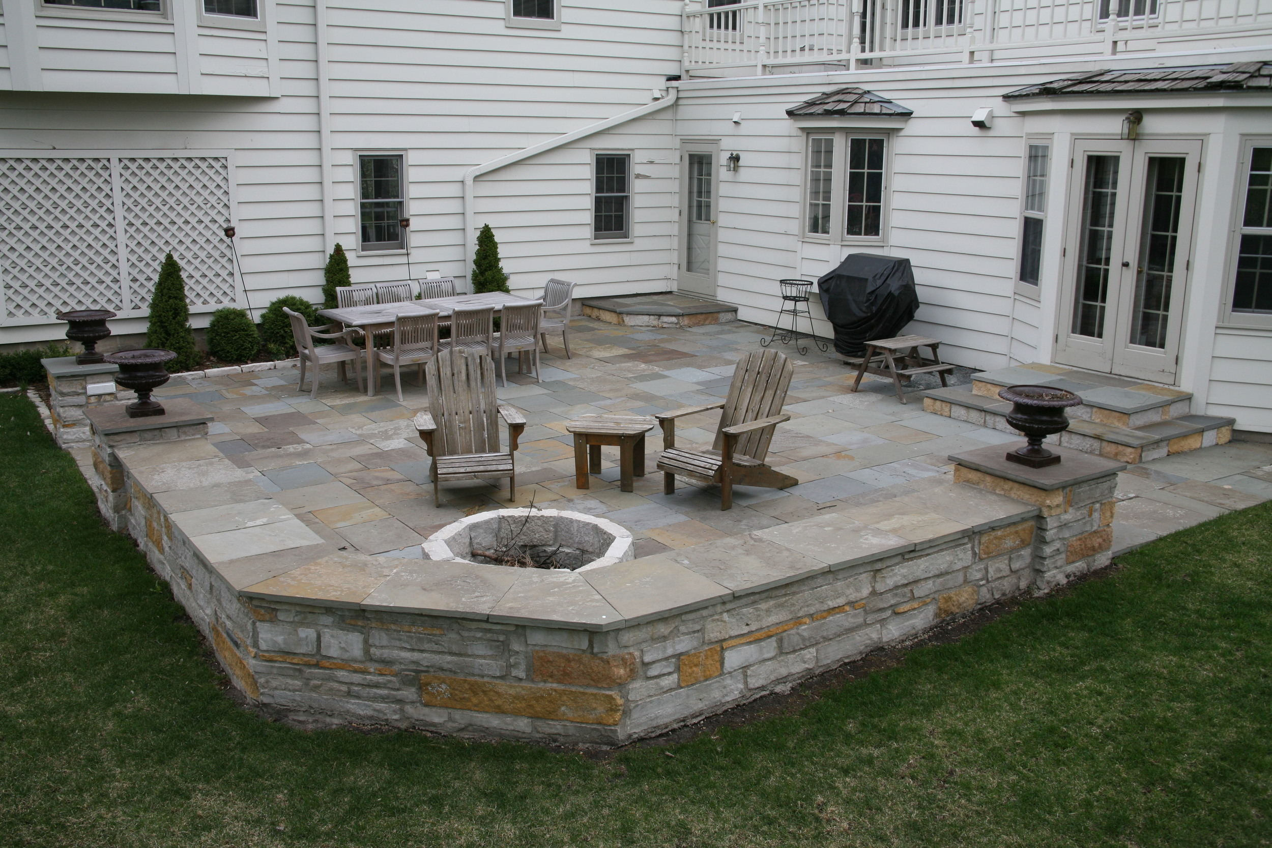 Natural Stone Patios & Sitting Walls — Colonial Stone ... on Rock Patio Designs  id=52409