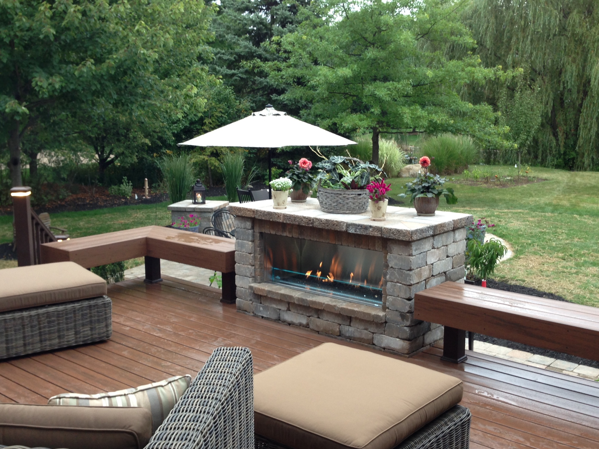 Northfield Fireplace & Grills-Job Pictures on Outdoor Gas Fireplace For Deck id=66798