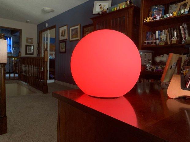 The homekit-compatible Eve flare portable smart led lamp