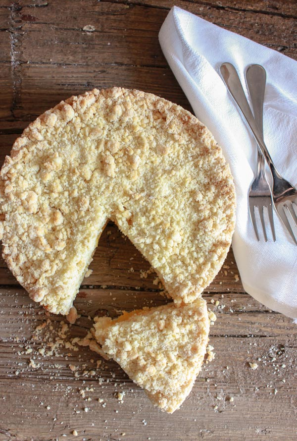 Easy Italian Peach Crumb Cake via An Italian in my Kitchen
