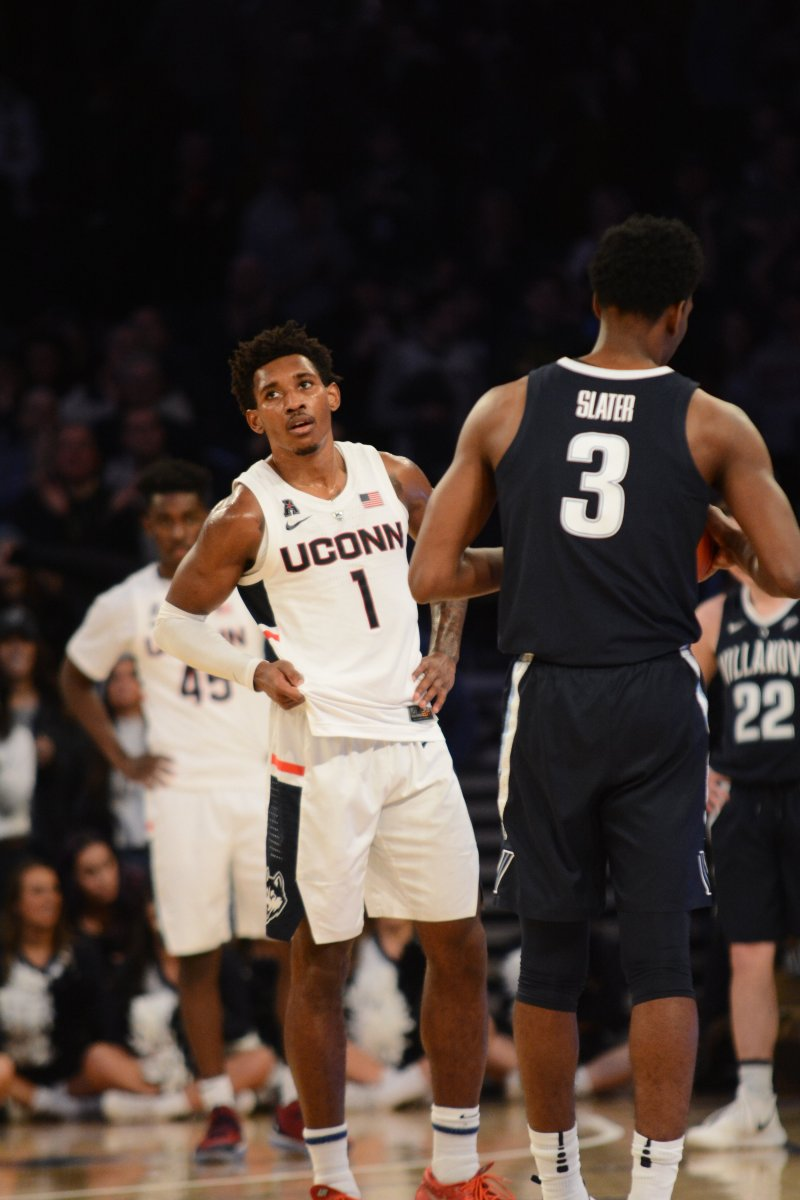 Christian Vital was one of the few bright spots for UConn during their 81-58 loss to Villanova. (Eric Wang/ The Daily Campus)