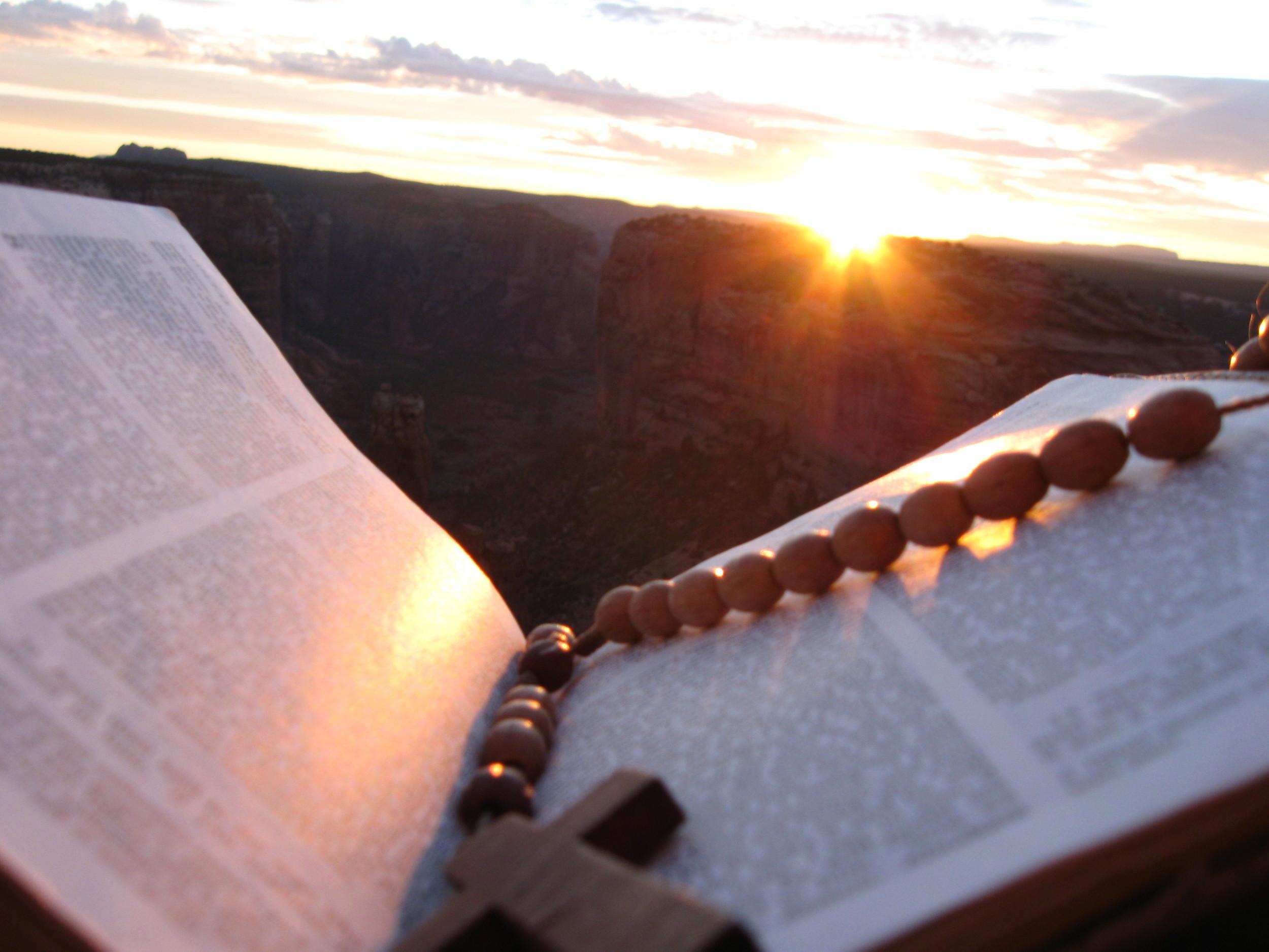 Morning prayer in the Arizona desert.
