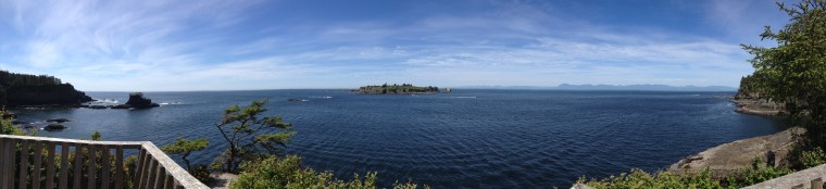 Panoramic view of cape flattery, the most northwestern point of the continental u.s.