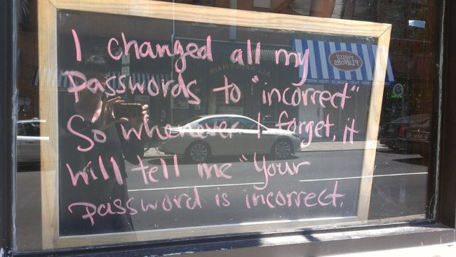 Photo from http://www.howtogeek.com/195430/how-to-create-a-strong-password-and-remember-it/