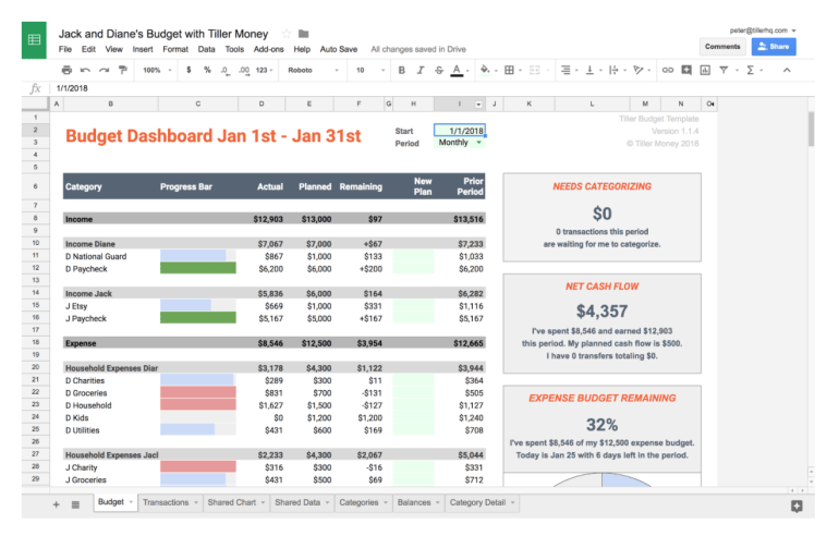 how to use a spreadsheet to manage shared expenses