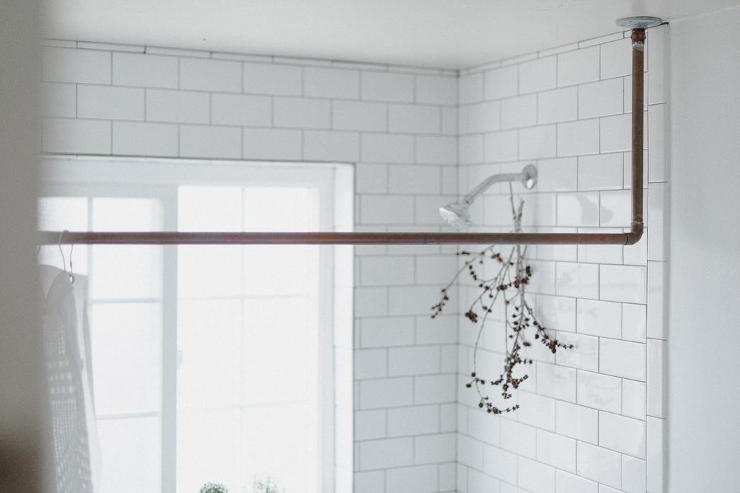 diy copper pipe shower curtain rod abigail green