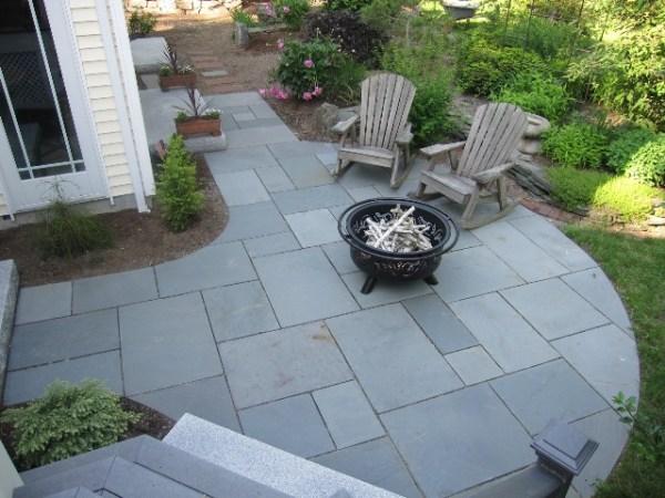 bluestone patio design ideas Walkway and Patio Design in MA — Natural Path Landscaping