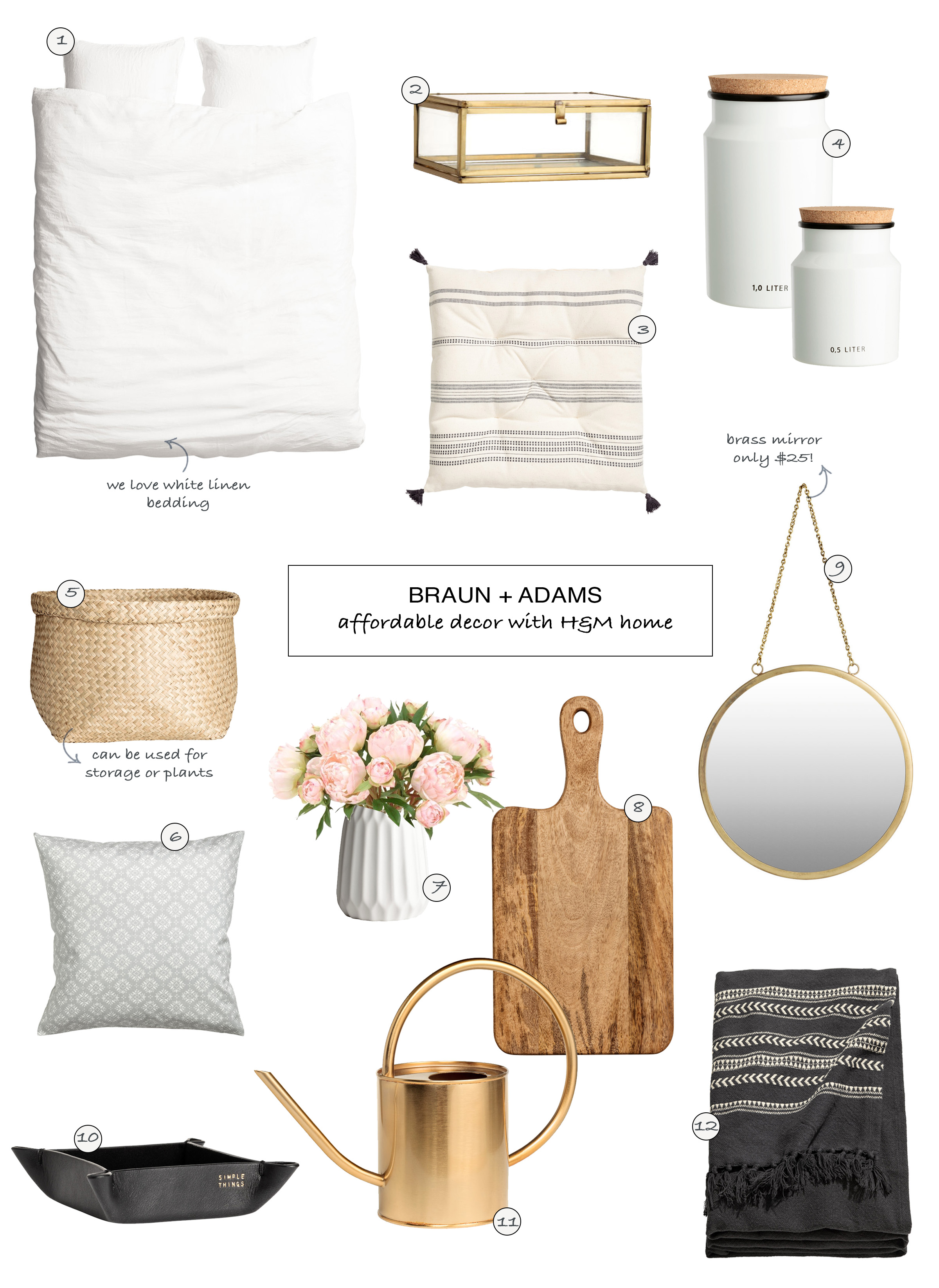 Affordable Decor with H M Home     Braun   Adams