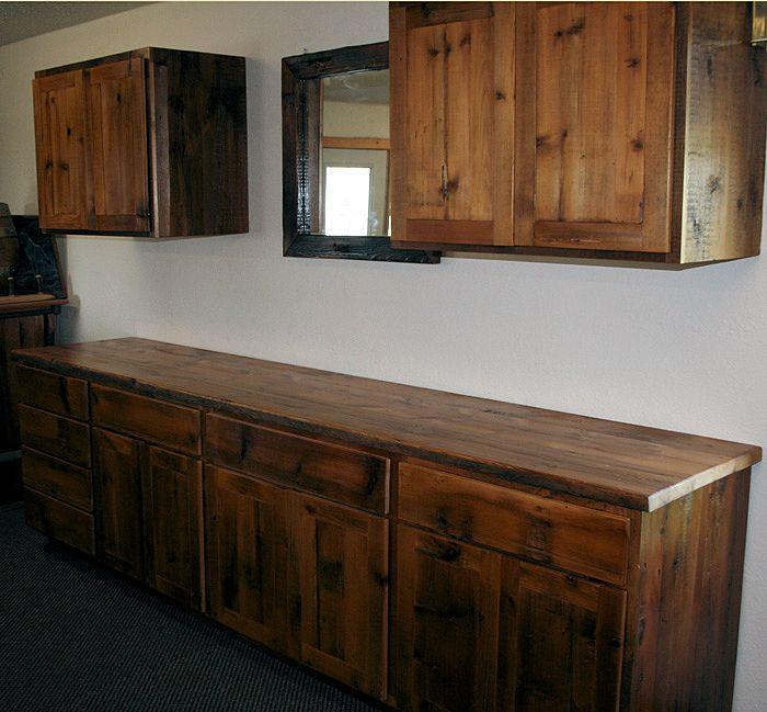 Reclaimed Barnwood Kitchen Cabinets Barn Wood Furniture Rustic