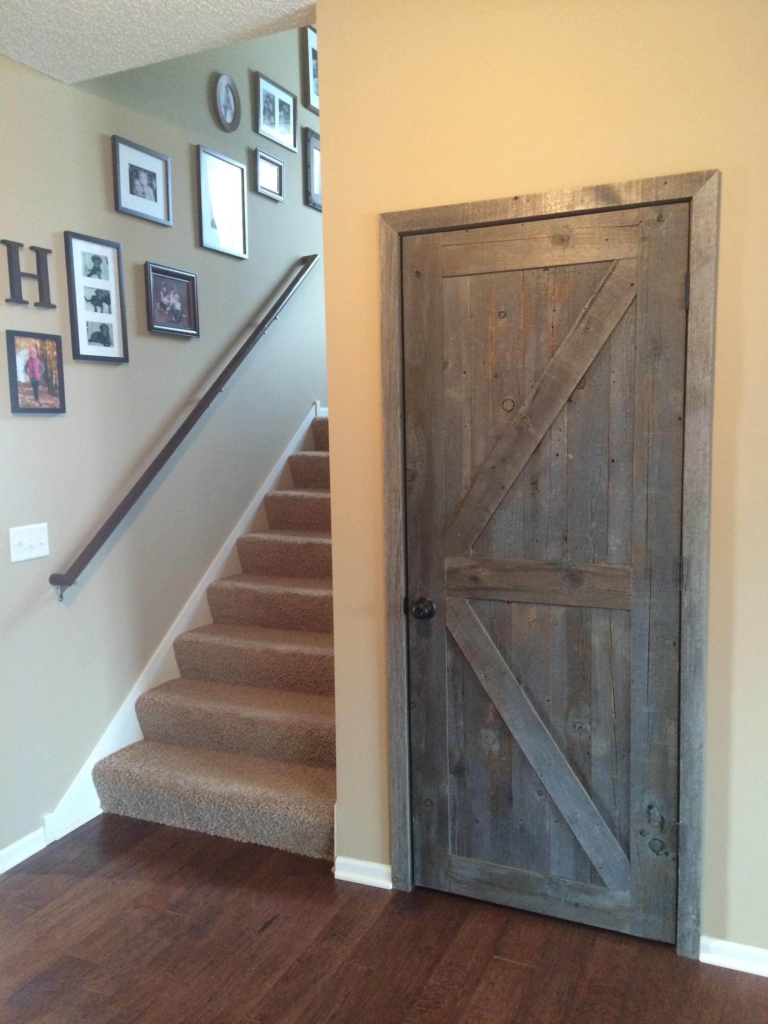 gray weathered barn wood door barn wood furniture Rustic Gray Barn Door id=27515