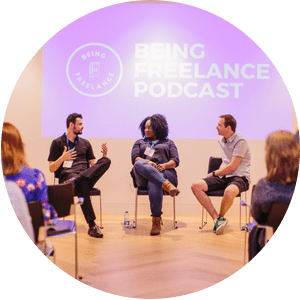 Being Freelance Live Podcast at National Freelancer's Day
