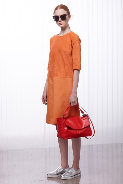 Forget about pastels the hot colour this S/S is going to be orange! Designers from Balmain, to Zac Posen have featured orange hues several times in their ready-to-wear S/S 2016 collections. Whether you wear a full on orange getup or add a pop of orange, such as a clutch or blazer to your outift, orange is going to be the colour you're rocking this season. Other colours are also olive, and mustard yellow.
